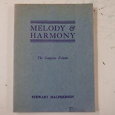 Stewart Macpherson melodia e armonia, VOLUME COMPLETO