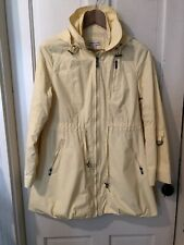 Coldwater Creek Womans Yellow Small Raincoat Spring Fall Jacket Parka