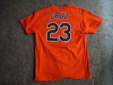 Majestic MLB Baltimore Orioles Nelson Cruz 23 Orange Jersey T Shirt Men Adult Lg