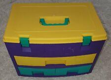 Multicoloured Stationary & Craft 3 Drawers Portable Storage Box