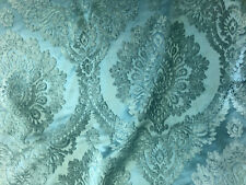 "57"" Wide Emerald Green Drapery Upholstery Damask Chenille Fabric Sold by The Yar"
