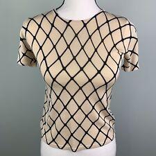 August Silk Petites Women's Small Short Sleeve Top 100% Silk