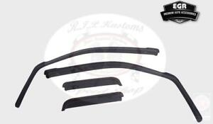 EGR Smoke In-Channel Window Visor 4pc Set 2015-2017 Ford F150 Ext Cab 573471