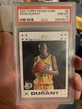 2007-08 Topps Kevin Durant Rookie Card RC #2 PSA 10 GEM MINT D8