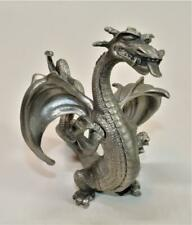 "1980 Signed PERTH Pewter by RAY LAMB Angry DRAGON 5""h Miniature Figurine"