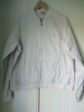 mens NIKE CREAM COTTON ZIP FRONT BASEBALL STYLE COAT SIZE XL