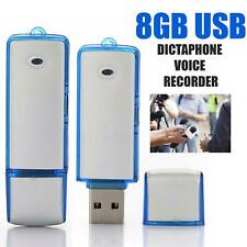 More details for digital dictaphone & usb mini flash drive  8gb voice recorder recording device