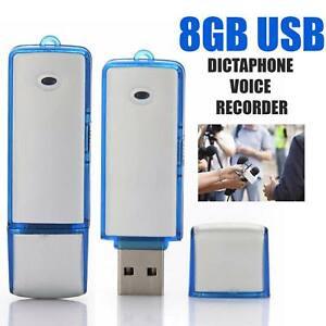 Digital Dictaphone & USB Mini Flash Drive  8GB Voice Recorder Recording Device