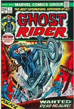 Ghost Rider #1 Facsimile Reprint Cover Only w/Original Ads 1st Solo Ghost Rider