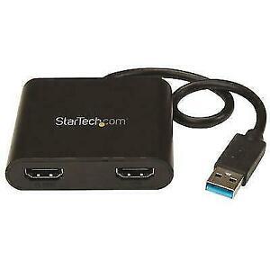 StarTech.com USB 3.0 to Dual HDMI Adapter - Black