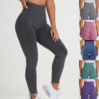 Womens Sports High Waist Leggings Fitness Gym Yoga Pants Ruched Push Up Pants ❥