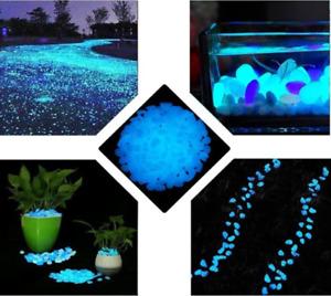 500 Pcs Glow in the Dark Stones Garden Pebbles Rocks for Outdoor Walkways Path