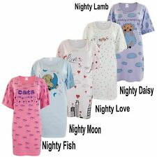 Ladies Womens Nightdress Night Shirt Dress Nighties Nightshirt Pyjamas Cotton