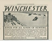 1905 Winchester Rifles Ad Arctic Hunting Big Game Shooting Gun Vintage