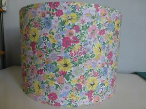 """Liberty*London Pink Floral Flower Show """"Cosmos Bloom"""" Fabric Lampshade~ 30cm Dia"""