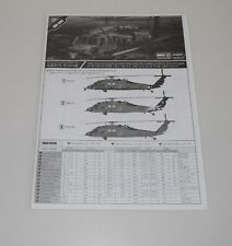 ACADEMY MH-60S SEAHAWK 12120 *PARTS* INSTRUCTION MANUAL&PLACEMENT GUIDE 1/35