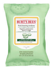 Burt's Bees Facial Cleansing Towelettes With Cucumber & Sage: 30 Cloths/Wipes