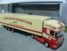 1/87 Herpa Scania R09 HAMBURGER SPEDITION Koffer-SZ 922760
