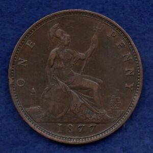 Great Britain, Victoria 1877 Penny (Ref. c7891)