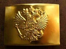 RUSSIAN ARMY SOLDIER IMPERIAL EAGLE  BUCKLE LEATHER BELT BLACK OR BROWN COLORED