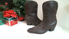 A.N.A  WOMENS BOOTS size 10 M BROWN LEATHER  WESTERN STYLE