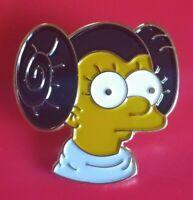 Simpsons Pin Lisa Simpson Princess Leia Enamel Retro Metal Brooch Badge Lapel