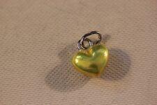 Genuine Links of London Sterling Silver Metallic Mini Yellow Heart Charm - BNIB