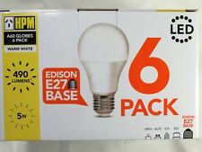 HPM LED Globes 240V 5W ES base E27 A60 Box of 6 Globes 490 Lumens Warm White