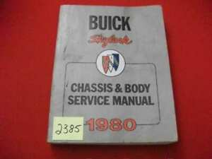 1980 FACTORY ISSUED BUICK SKYLARK CHASSIS & BODY SERVICE MANUAL ALL MODELS VGC.