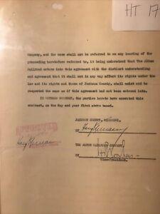 Harry Truman President signed (2X) Court Order 8/8/1932