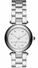 NEW Marc By Marc Jacobs Womens Dotty Silver-tone White Dial Watch  MJ3485