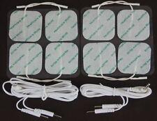 RTE almohadillas 8 Adhesivo decenas De Electrodos De 5cm X 5 Cm Con Macho alambres de plomo