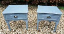 PAIR OF BEDSIDE DRAWERS IN MANOR HOUSE GRAY BY FARROW AND BALL