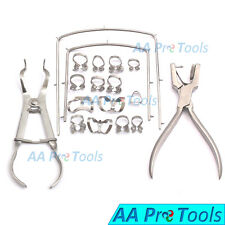 New Rubber Dam Starter Kit Of 18 Pcs With Frame Punch Clamps Dental Dn 592