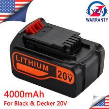 4.0Ah FOR BLACK+DECKER 20V Battery LBX4020 LBXR20 Lithium-Ion MAX LCS1620 LDX220