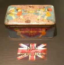 Vintage Sweet/Toffee Tin.. Children Pulling Christmas Crackers