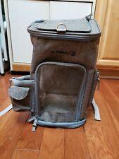 Mr. Peanut'S Backpack Pet Carrier W/ Shoulder Strap Gray (Pet Clicker Included)