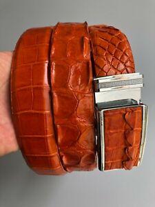 Genuine Crocodile Skin Belt -No Jointed- Handmade and Very Formal -Luxury-DL10