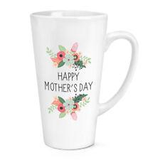 Felice Festa Della Mamma Day Fiori 483ml Grande Latte Tazza - Mamma