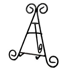 "9"" Tall Black Iron Display Stand Holds Cook Books, Plates, Pictures & More! New"