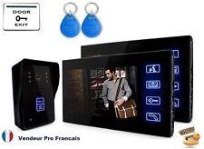 "Portier Visiophone/interphone Filaire 7 "" 1 camera +2 Moniteur + Carte/Clé"