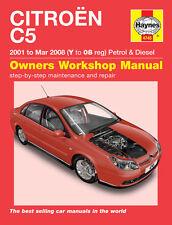 4745 Haynes Citroën c5 Pétrole & Diesel (2001-Mar 2008) y to 08 workshop manual