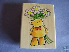 PENNY BLACK RUBBER STAMPS FLOWER BEAR NEW STAMP!!