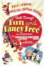 Disney Divertido & Fancy Free Culto Dibujos Animados Película Cartel Póster