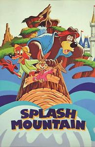 Splash Mountain Retro 90s Attraction Poster Print 11x17 Disney