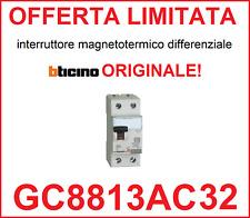 Interruttore magnetotermico differenziale salvavita BTICINO ORIGINAL  GC8813AC32