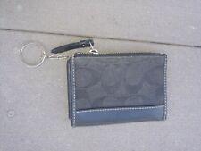 Vintage COACH black coin purse key chain