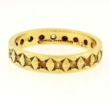 9Carat Yellow Gold Full Eternity Spinel Flat Band (Size P) 4mm Width