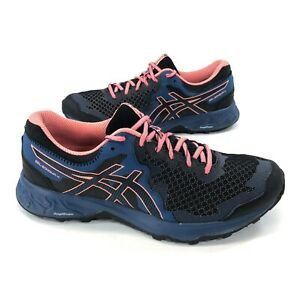 ASICS Gel-Sonoma 4 Women's Size 10.5 Black Sun Coral Running Shoes 1012A160