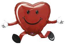 Valentines day Mini Airwalker Smiley Face Happy Hugs 66cm x 48cm Foil Balloon
